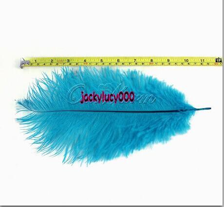 10 bleu sarcelle plumes d'autruche naturelles 10