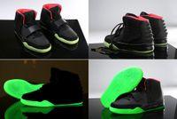 Wholesale kanye west red octobers for sale - 5 Colours Kanye West Air ii Black Red October Green Lantern Glow In Dark Women Men s Basketball Sport Footwear Sneakers Shoes