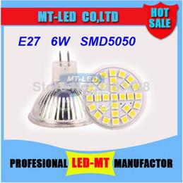 Wholesale Cheap Light Bulbs Free Shipping - cheap X10pcs Free shipping Best item High power SMD5050 Led Lamp MR16 E27 gu10 6W 12V Led spot Light Spotlight led bulb downlight lighting
