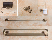 Wholesale Towel Bathroom Hooks Antique - Antique Brass Wall Mounted Bathroom Accessories Bathroom Toilet +towel ring Hook +Installing bathroom roll holder 8716B