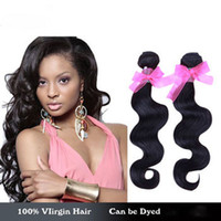 Wholesale Cheap Wholesale Products Free Shipping - Cheap Brazilian Human Hair Extensions 5pcs lot body Wave color1b 50g Unprocessed Human Hair queen hair products Free shipping DHL