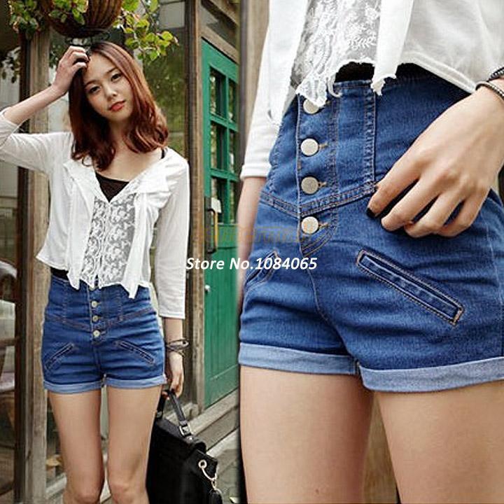 2017 2014 Retro Women Girls Jean Shorts Loose Plus Size Short ...