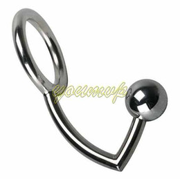 Wholesale Sex Anal Ball - Stainless Steel Anal Sex Ball Anal Plug Hook Sex Toy Anal Intruder Cock Ring Anal Plug Anal Hook with Cock Ring