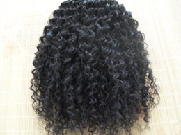 Wholesale Human Hair Weave Malaysia - malaysia kinky curly hair weaves afro hair products natural black human hair extensions1 bundles one lot beauty weft