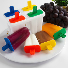 Wholesale Kitchenware Wholesalers - Hot Sale Non-toxic Ice Cream Pop Mold Popsicle Maker Lolly Mould Tray DIY Kitchenware 6set lot SH665