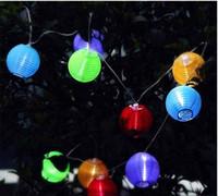 dış mekan yılbaşı dekorasyonları güneş aydınlatma toptan satış-Açık Güneş Enerjili LED Fener Dize Aydınlatma Noel Ağacı Lambası Bahçe Partisi Dekorasyon Düğün Malzemeleri Için