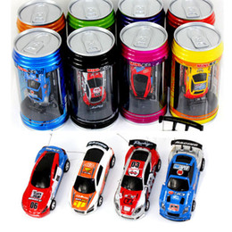 Wholesale Wholesale Mini Micro Remote Control - Free Epacket color Mini-Racer Remote Control Car Coke Can Mini RC Radio Remote Control Micro Racing 1:64 Car 8803 children toy Gift