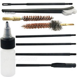Wholesale Gun Brush Cleaning Set Kit - Hunting Model 15 .22 .223 Rifle Gun Cleaning Kit Set Cleaning Rod Nylon Brush