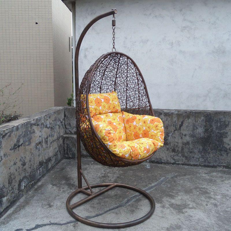 2017 Rocking Chair Swing Hanging Chair Outdoor Indoor Rattan Bird Nest  Balcony Cradle Chair Unique Egg Shape Hammock From Grenda288, $4523.54 |  Dhgate.Com