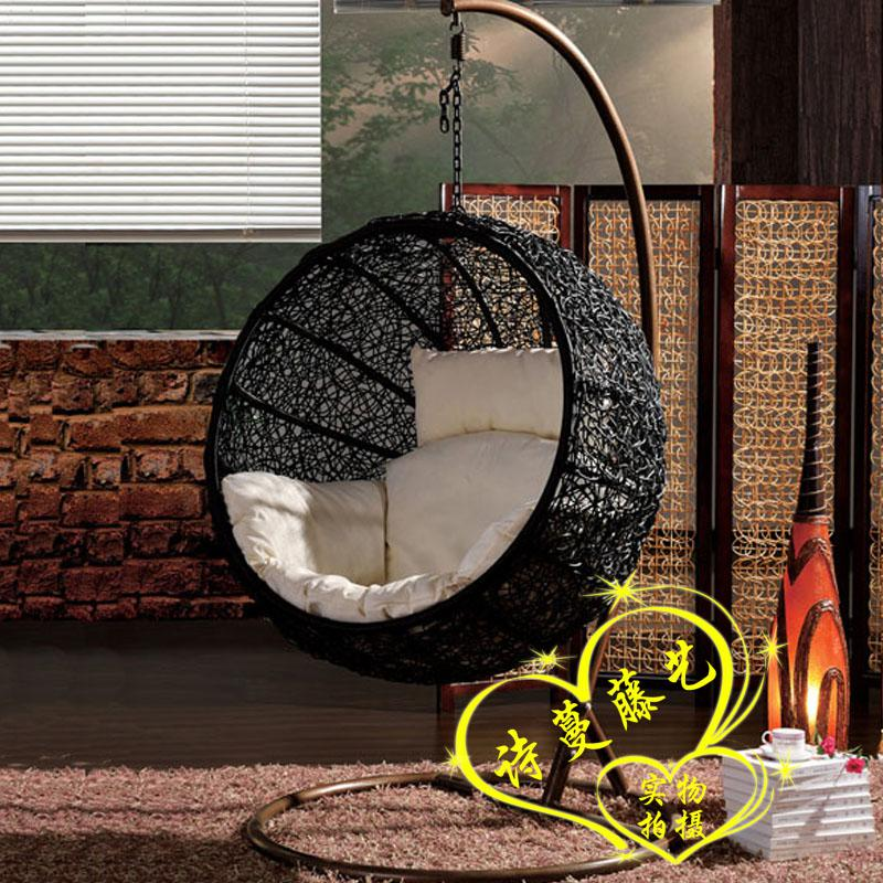 2018 Rattan Swing Hammock Lounged Hanging Basket Cradle