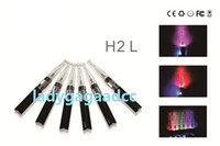 Wholesale Wholesale Clearomizers Wicks - Ego GS H2L LED Atomizer Detachable Clearomizers GS H2 Vapor Upgrade with LED Light GS-H2 No Wick Cartomizer For E Cigarette