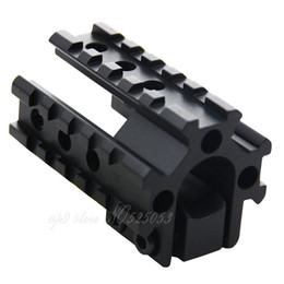 Wholesale rifles barrels - Hunting Rifle Scope Picatinny See Through Tri- Rail Barrel mount 20mm Rail