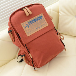Wholesale Ladies Shoulder Computer Bag - wallets2014 new Korean version of the influx of men and women shoulder bag canvas travel bags Institute of wind capacity computer backpack h