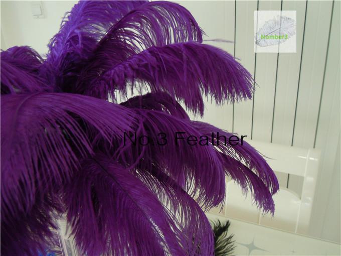 Venta al por mayor 100 unids 12-14 pulgadas Pluma de plumas de avestruz púrpura para la boda pieza central decoración de La Boda decoración del partido decoración del hogar