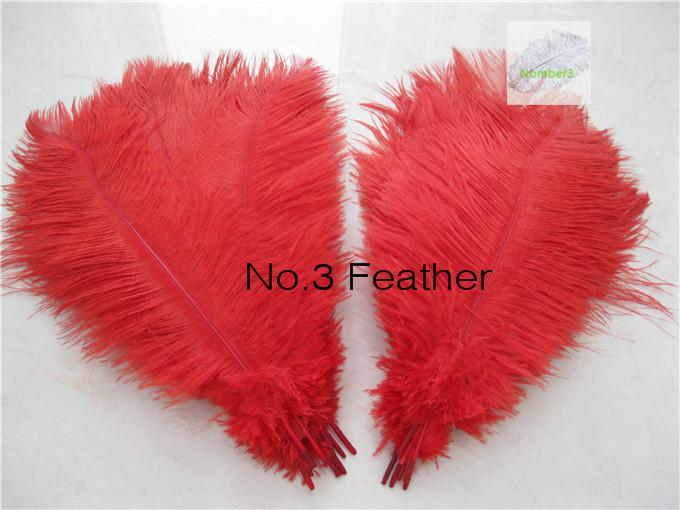 Venta al por mayor 100 unids 16-18 pulgadas pluma de avestruz roja para la fiesta central de la boda decoraction centro de mesa de evento festivo fuente de decoración