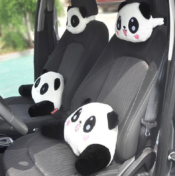 Panda Car Headrest Cute Cartoon Neck Pillow Accesorry Seat Cusion Drop Shipping Out Door Cushions Patio Cushion Replacement From Kepiwell7