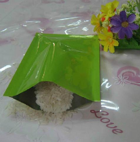 Spedizione gratuita 12 * 18 cm 100 pz / lotto verde sigillo a calore colorato sacchetto di alluminio sacchetto maschera sacchetto di imballaggio alimentare