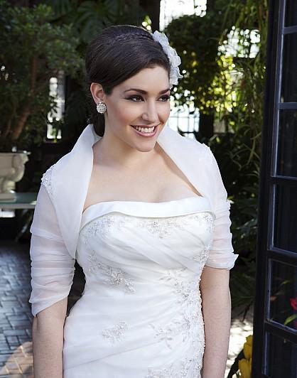 2014 ultima affascinante sposa bolero organza maniche corte applique paillettes perline collo alto giacche da sposa da sposa avvolgere accessorio da sposa