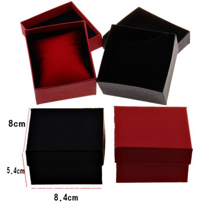 Top Quality Black /Red Wristwatch Display Paper Box Jewelry Gift Packaging Boxes Cheap Sale