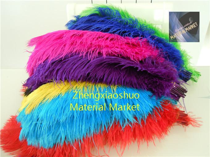 도매 / 14-16inch 화이트 블랙 레드 라이트 핑크 핫 핑크 로얄 블루 터키석 오렌지 보라색 타조 페더 웨딩 센터 피스
