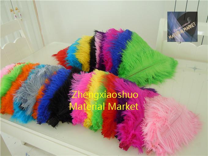 Оптовая продажа 100 шт./лот 14-16 дюймов белый черный красный свет розовый ярко-розовый королевский синий бирюзовый оранжевый фиолетовый страусиное перо свадьба центральным