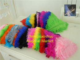 China wholesale 100pcs lot 14-16inch White black red light pink hot pink royal blue turquoise orange purple Ostrich Feather Wedding centerpiece suppliers