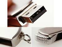 Wholesale Stainless Steel Disks - 128GB 256GB USB 2.0 Key Chain Stainless Steel Metal Keyring Swivel USB Drives Pen Drives Memory Stick U Disk for Windows XP 7 8 Mac Tablets