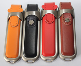 Wholesale Usb G4 - 2015 SHENZHEN new orange leather Genuine 64GB 128GB 256GB USB 2.0 Memory Stick Flash Pen Drive for g4-2135TX C9L83PA CQ45-m01TU