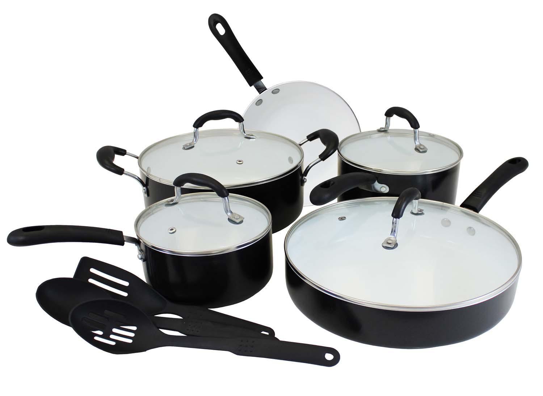 Concord Eco Friendly Ceramic Nonstick Cookware Set Pots