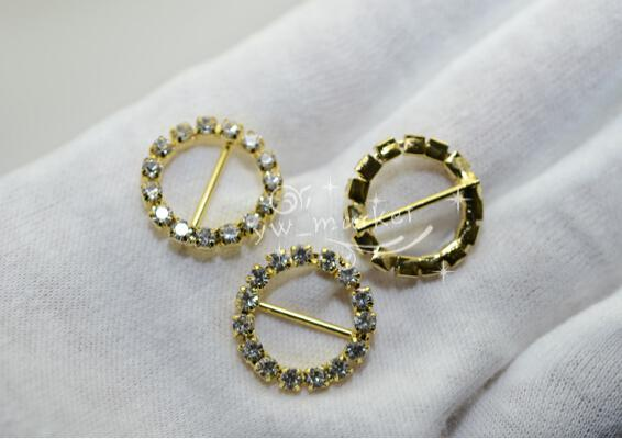 Hot Sale Wedding Supply 21mm Round Rhinestone Slider Buckles For Rhinestone Napkin Rings Weddings invitations Card