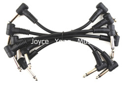 6 Pack Electric Guitar Cables 6'' 1 4 Right Angle Effect Pedal Patch Cord Free Shipping