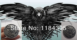 Wholesale Watch Throne - Wholesale-Freeshipping wholesale a lot Game Of Thrones The Night's Watch The crow Pin Brooch Badge Insignia