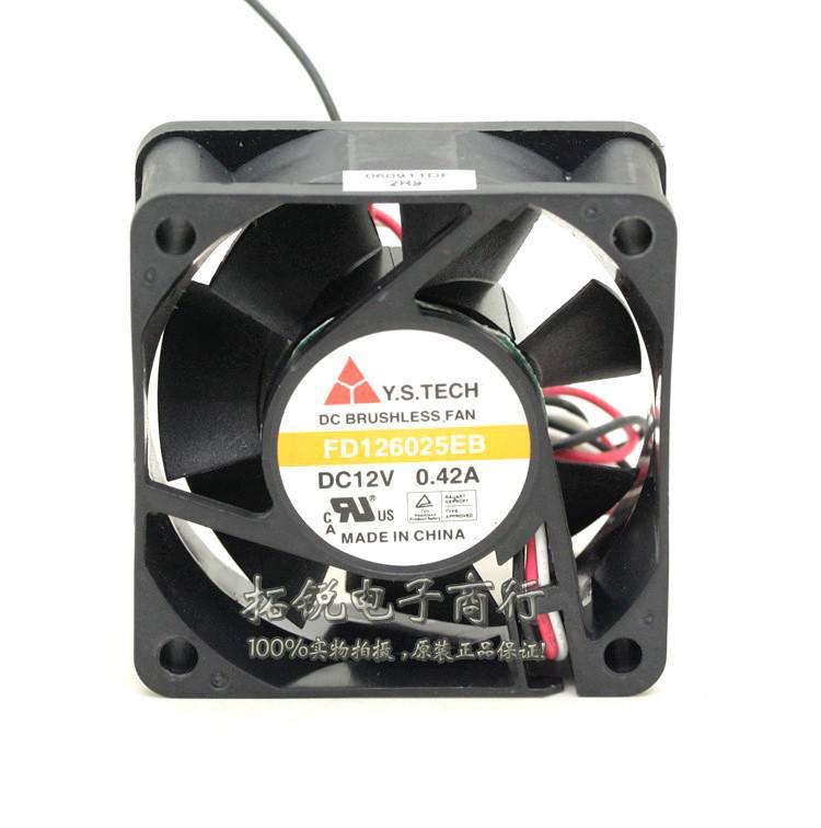 Nuovo originale Y.S.TECH FD126025EB 60 * 60 * 25MM 6cm 12V 0.42A Ventola di raffreddamento