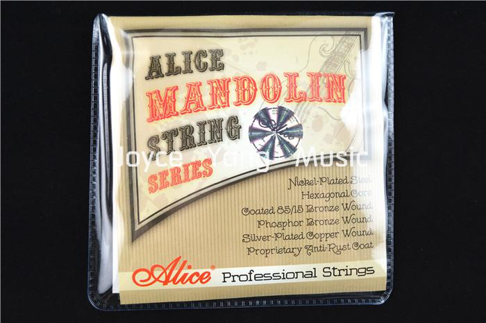 Corde filate Stringhe Alice AM06 mandolino placcato SteelCoated 85/15 bronzo di trasporto