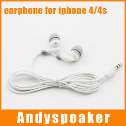 Wholesale iphone 4s earbuds - Stereo Earphone for Iphone 4 4S 3G earphones Mini In Ear Style great quality iphone earbuds free shipping 200pcs lot in stock