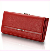 Wholesale Leather Money Wallet For Women - New leather women long clutch wallet fashion purse card holder money bags wallets for ladies branded quality free shipping