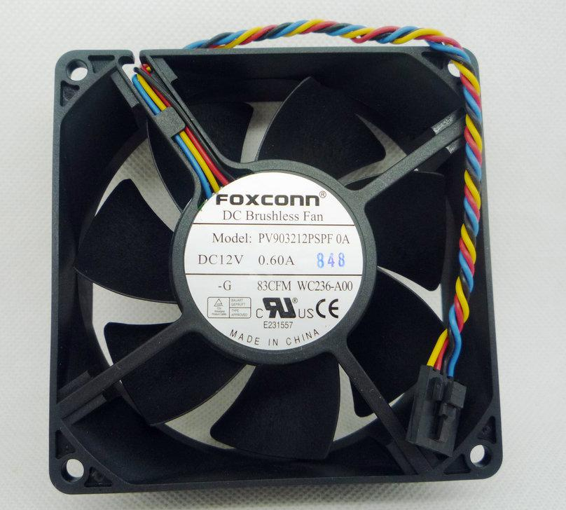 New original Foxconn PV903212PSPF 0A 92*92*32MM 12V 0.6A for Dell chassis CPU fan