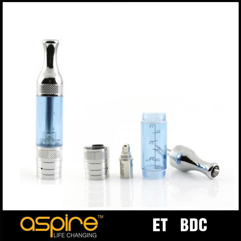 Wholesale - atomizer Aspire ET BDC eGo 1.8ohm Dual Coil atomizer clearomizer e vaporizer big vapor pure taste bottom dual coil clearomizer