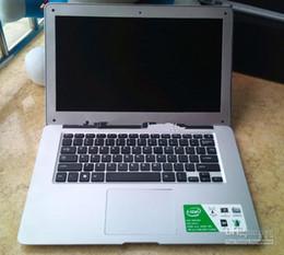 Wholesale Super Slim Hd Inch - Wholesale - Ultrabook Ultra thin 14 inch Notebook Netbook Dual Core Celeron J1800 2.41GHz Dual core Laptop 4GB 500GB HD Screen Super Slim