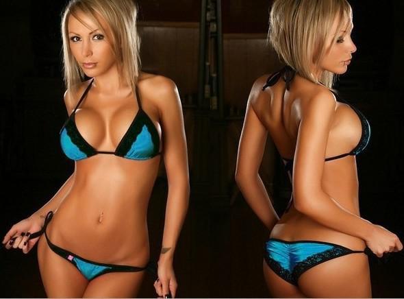 Moda Sexy donna bikini costumi da bagno beachwear pizzo Bikini abiti stringate T-back slip mutandine colore puro