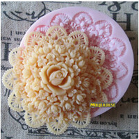 Wholesale Sugarcraft Biscuit - Top Quality Food Grade Silicone Fondant Molds Rose Flower Cake Chocolate Biscuit Bakeware Moulds Sugarcraft Flowers Tools