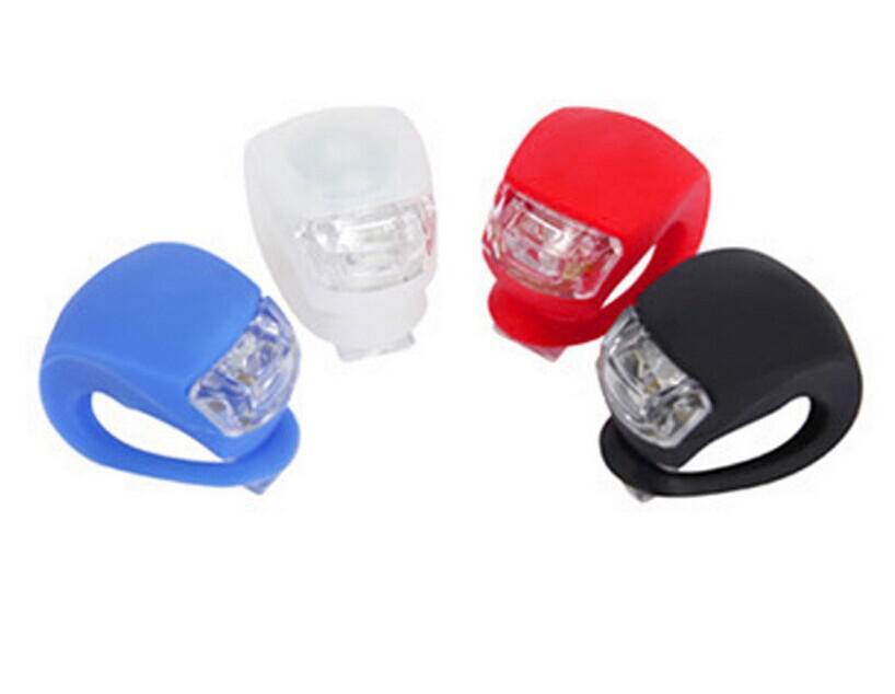 LED 플래시 실리콘 자전거 자전거 사이클링 헤드 전면 후면 휠 라이트 램프 /