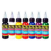 Wholesale Tattoo Inks Sale - Hot Sale! Solong Tattoo® 1 Sets Tattoo Ink 7 Colors Set 1 oz 30ml Bottle Tattoo Pigment Kit TI301-30-7