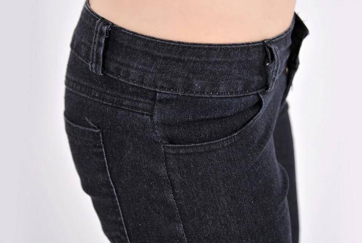 HOT LADY Vintage Lado Arco Recorte Rasgado Denim Jeans Sexy Calças Jeggings