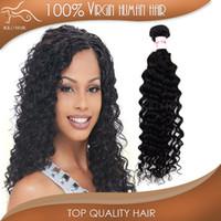 "Wholesale Grade 5a Indian Hair - Grade 5A Virgin Human Hair Weave Brazilian Peruvian Indian Malaysian European 12""-28"" Unprocessed 3pcs Hair Bundle Deep Curly"