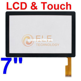 Wholesale Q88 Lcd - Wholesale-7 inch Capacitive Touch Screen with Glass panel LCD screen for 7inch Allwinner A13 Q88 ATM7013 tableat pc