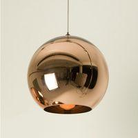 Wholesale Tom Dixon Lampshade - Hot Sale Tom Dixon Glass Ball Pendant Lights Creative Bubble Ceiling Lighting Gold Copper Silver Lampshade Pendant Lamp Multi Size