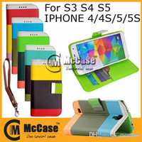 Wholesale Leather Case Painting Series - Galaxy S4 S5 Hybrid Wallet Case Painting Series PU Leather Flip Cover Case With Card Slots For iPHONE 4 4S 5 5S Galaxy S3 S4 S5 50pcs DHL
