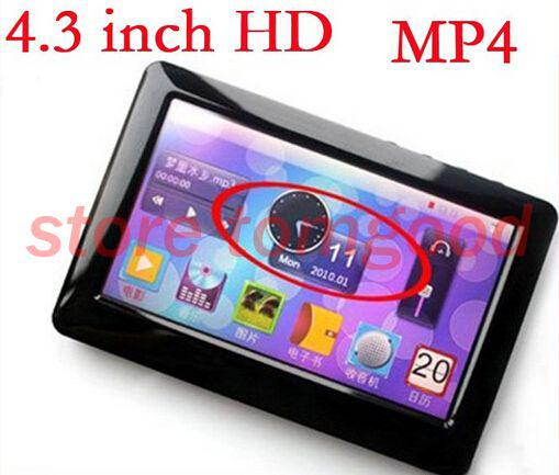 Limited Top Fashion Pink Gray Gold 4.3 Inch Hd Definition Touch Screen Mp4 Mp5 Player+tv Out+video+fm Radio+free Shipping Player