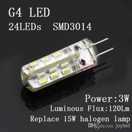 Wholesale Led 12 G4 - Free Shipping G4 3W SMD3014 24LEDs 12 volt led lights 360deg Lamp Spotlight